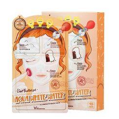Elizavecca - Aqua White Water Illuminate Mask Pack Set 10pcs