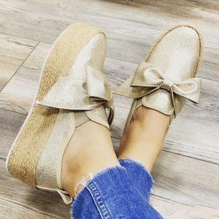 Avanti - 蝴蝶結厚底輕便鞋