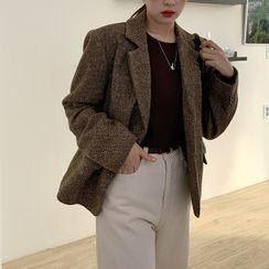FROMBEGINNING(フロムビギニング) - Single-Breasted Wool Blend Blazer