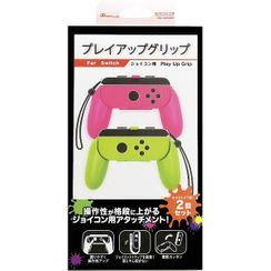 Answer - Nintendo Switch Joy Con Play Up Grip (Green & Pink)