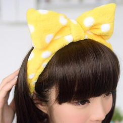 59 Seconds - Dotted Bow Terrycloth Hair Band