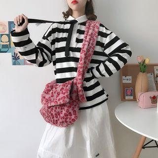 TangTangBags(タンタンバッグズ) - Patterned Fleece Crossbody Bag