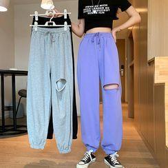 OUREA - Cutout Drawstring Sweatpants