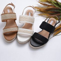 Lemite - Rattan-Strap Sandals