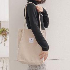 Milha - Applique Corduroy Tote Bag