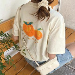 Shopherd - Elbow-Sleeve Print T-Shirt