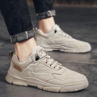 BELLOCK - Velvet Platform Lace Up Sneakers