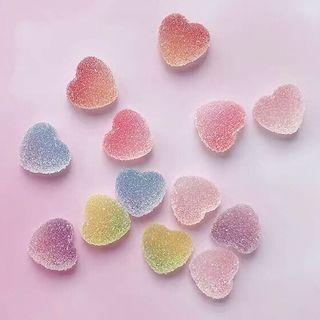 w.sang - Gummy Heart Earring / Set