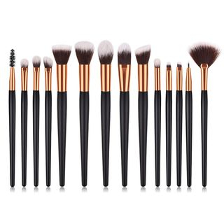 Stroke of Beauty - Set of 14: Makeup Brush with Wooden Handle