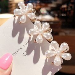 Miss Floral - Faux Pearl Flower Hair Claw Clip