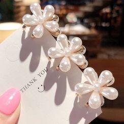 Miss Floral - 仿珍珠花朵发夹