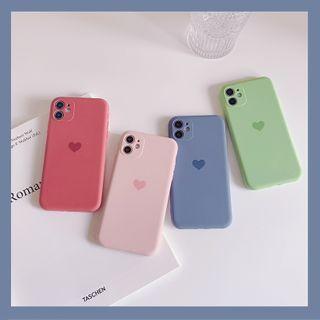 kloudkase - Heart Print Phone Case - iPhone 12 Pro Max / 12 Pro / 12 / 12 mini / 11 Pro Max / 11 Pro / 11 / SE / XS Max / XS / XR / X / SE 2 / 8 / 8 Plus / 7 / 7 Plus