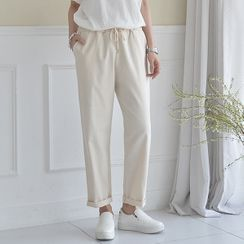 Seoul Fashion - Drawcord-Waist Tapered Pants