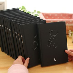 Pecorino - 星座印花硬皮中型笔记本