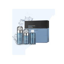 SCINIC - Aqua Homme Set : Essence Water 180ml + 180ml + Multi Fluid 140ml