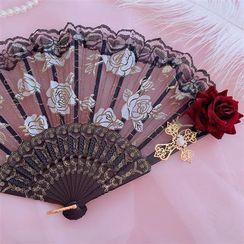 Soledad - Embossed Hand Fan