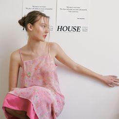 FROMBEGINNING - [BOTANIC HOUSE] Floral Chiffon Slipdress