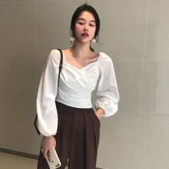 JStyle - Square-Neck Blouse