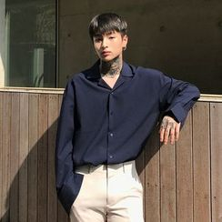 DragonRoad - Long-Sleeve Plain Shirt