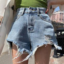 monroll - Distressed Denim Hot Pants