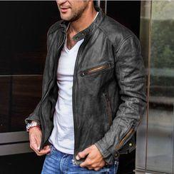 JORZ - Faux Leather Zip Jacket