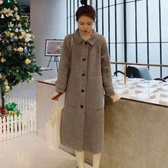 Jinyo - 人字纹单排扣大衣