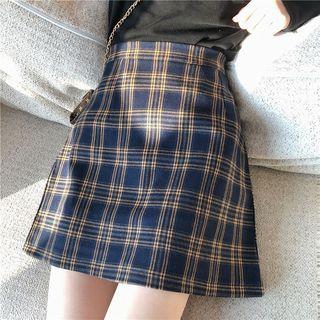 OGAWA - Plaid A-Line Skirt