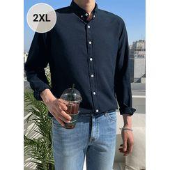 JOGUNSHOP(ジョグンショップ) - Plain Linen Blend Shirt