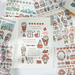 MUNBANG - 卡通貼紙