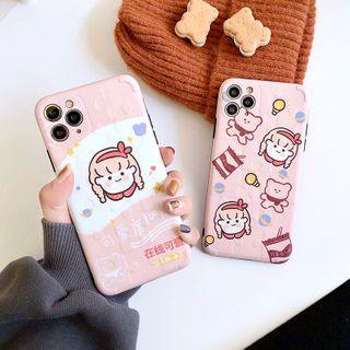 Mobby - Girl Print Phone Case - iPhone 11 Pro Max / 11 Pro / 11 / XS Max / XS / XR / X / 8 / 8 Plus / 7 / 7 Plus / 6s / 6s Plus