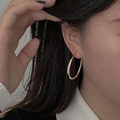 Henya - Alloy Hoop Earring