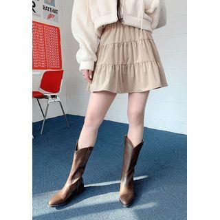 chuu - Tiered A-Line Miniskirt