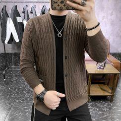 Ninine - Cable Knit V-Neck Cardigan