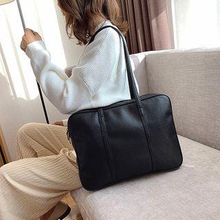 Bouhoser - Faux Leather Laptop Bag
