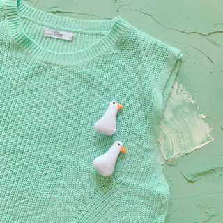 Hello minto - Fabric Duck Brooch