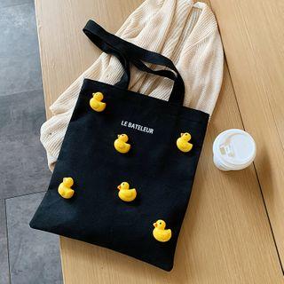 JAMEL - Lettering Canvas Shopper Bag