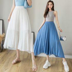 Juuri - 高腰纯色裙裤