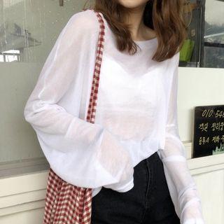 Tonni's - Long-Sleeve See-Through T-Shirt