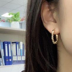 Mimishi - Bead Hoop Clip-On Earring