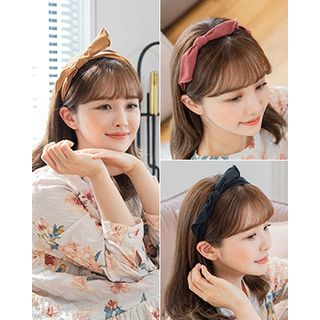 Miss21 Korea - Inset Wire Bow Hair Band