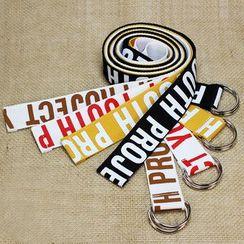 Rofuka - Lettering Canvas Holeless Belt