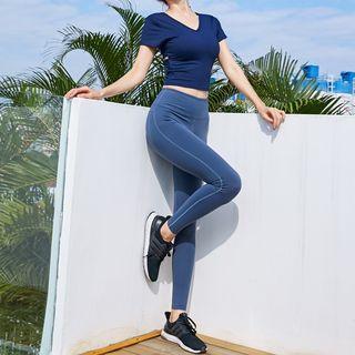 Girasol - Sports Short-Sleeve Top / Leggings / Set