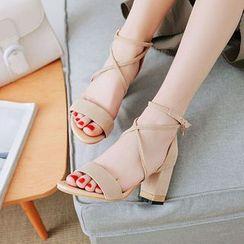 Kireina - Roman Block Heel Sandals