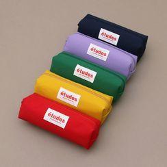 iswas - Letter-Patched Vivid-Color Pencil Case