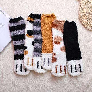 Chimi Chimi - 猫爪珊瑚绒袜子