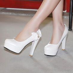 Shoes Galore - Bow Platform Pumps