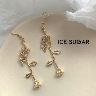 ICE SUGAR - Alloy Rose Dangle Earring