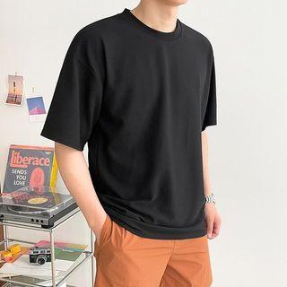 Seoul Homme - Winkle-Free Plain T-Shirt