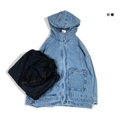 Obelix - Hooded Denim Zip Jacket