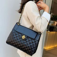 Montomery - Faux Leather Quilted Shoulder Bag